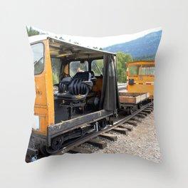 At the Rockwood Depot of the Durango & Silverton NG Railroad Throw Pillow