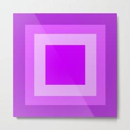 Light Purple Square Design Metal Print