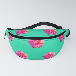 Pink Double Hibiscus (Turquoise) Fanny Pack