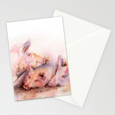 Pigs in clover Stationery Cards