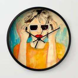 Pixel Sunglasses 01 Wall Clock