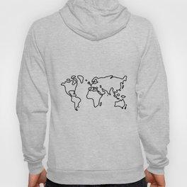 world globe Hoody