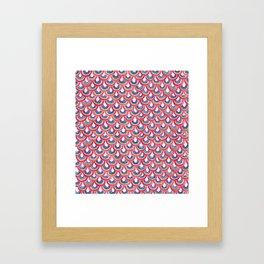 Rainbow Scallop Framed Art Print