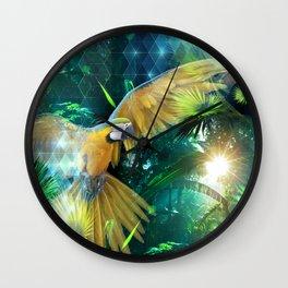 Macaw Jungle Wall Clock