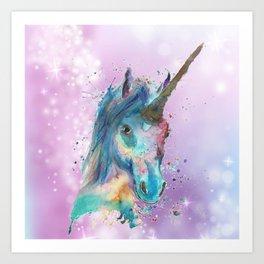 Magical Painted Unicorn Art Print