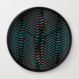 Echoes I - Abstract Glitch Wall Clock