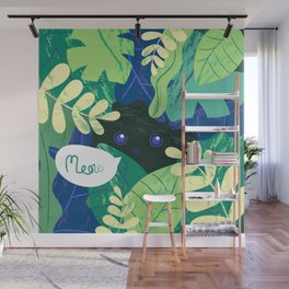 MEOW IN THE JUNGLE Wall Mural
