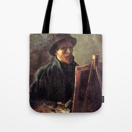 Self-Portrait with Dark Felt Hat at the Easel by Vincent van Gogh Tote Bag