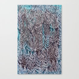 Snow Pines(Blue) Canvas Print