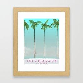 Islamorada Florida vacation print Framed Art Print