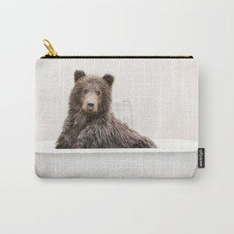 Bear in a Vintage Bathtub (c) Carry-All Pouch