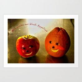 You make me blush Appleline Art Print