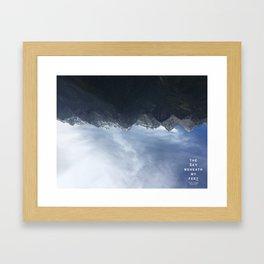 The Sky Beneath My Feet - Jade Dragon Framed Art Print