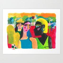 Exploring the Fields Art Print