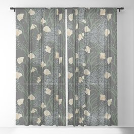 Lily Floral Sheer Curtain
