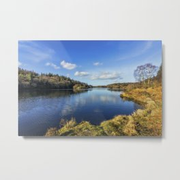 Lake Above The Village Metal Print