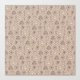 Retro asian pattern Canvas Print