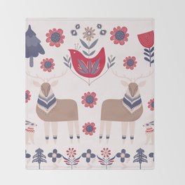 Scandinavian Winter Pattern Beige #society6 #buyart Throw Blanket