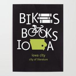 Bikes Books Iowa Poster