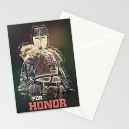 Knights Templar / The crusader / FOR HONOR motto / Living History Stationery Cards