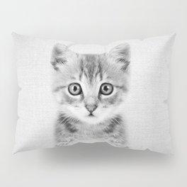 Kitten - Black & White Pillow Sham