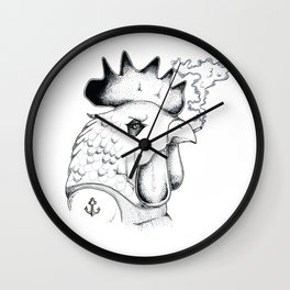 Rowdy Rooster Wall Clock