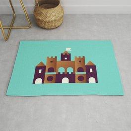 Sand Castle // Geometric Minimalist Illustration Rug