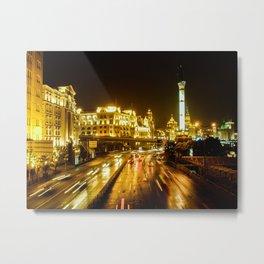 The Bund, Shanghai Metal Print