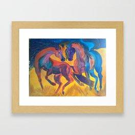 Danceing horses Framed Art Print