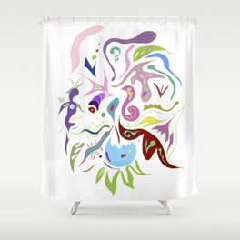My pieces of invisible worlds II Shower Curtain