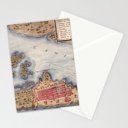 Map Of San Juan 1770 Stationery Cards