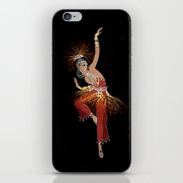 """Firebird Dancer"" Art Deco Image iPhone Skin"