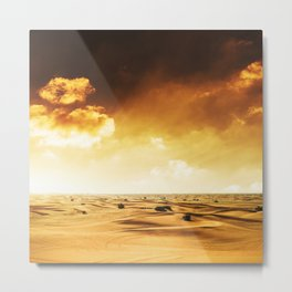 desert in oman Metal Print