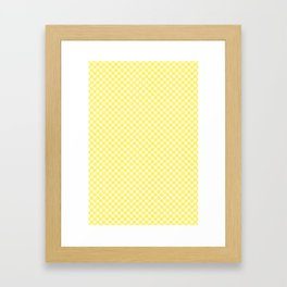 Yellow Lemon Fruit Slices Pattern Framed Art Print