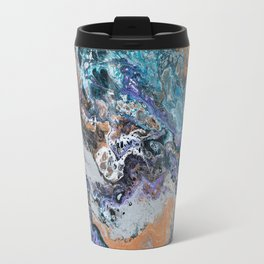 Molten Time (flow art on canvas) Travel Mug