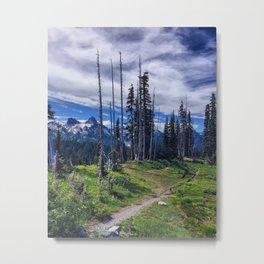 Paradise, Mountain Rainier Metal Print