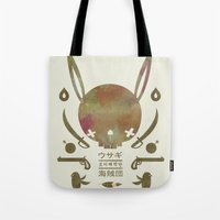 pirates Tote Bags featuring 토끼해적단 TOKKI PIRATES by PAUL PiERROt