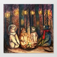 helen green Canvas Prints featuring Camp Meeting By Helen Green by Bear Picnic