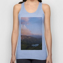 Mountain lake in Germany with Moon - landscape photography Unisex Tank Top