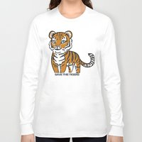 tigers Long Sleeve T-shirts featuring TIGERs by hoshi-kou