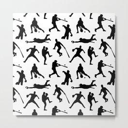 Baseball Players Metal Print
