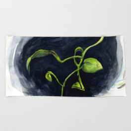 Philodendron Beach Towel