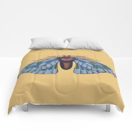 blue moth (original sold) Comforters