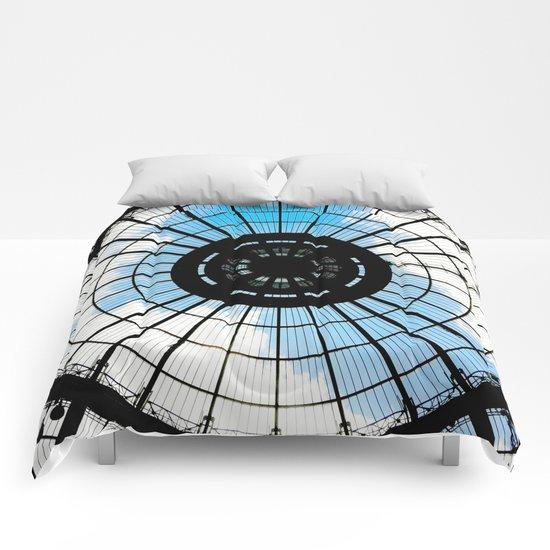 paris sky Comforters