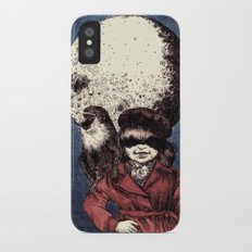 Posing on the moon iPhone X Slim Case