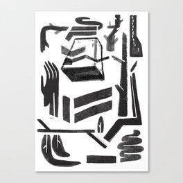 white-black Canvas Print