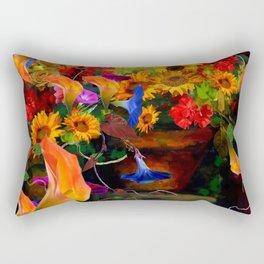 ABSTRACTED  ORANGE CALLA LILIES  FLORAL STILL LIFE Rectangular Pillow