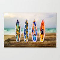 surfboard Canvas Prints featuring Surfboard by Leonardo Vega