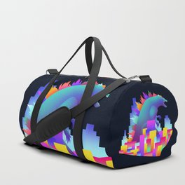 Neon city Godzilla Duffle Bag