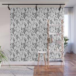 Llama Llamarama + Cactus Pattern Wall Mural